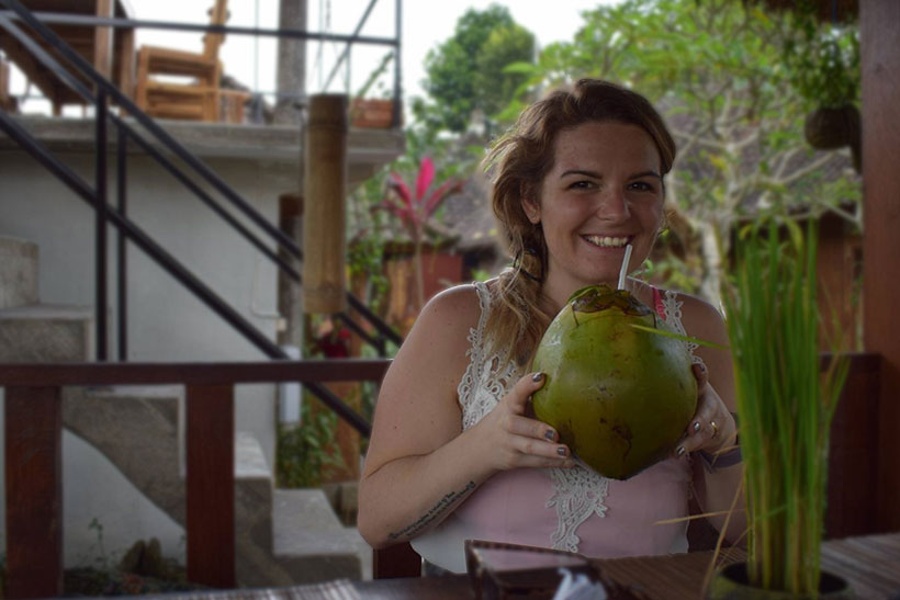 Brie-anne-in-bali-drinking-coconut-water