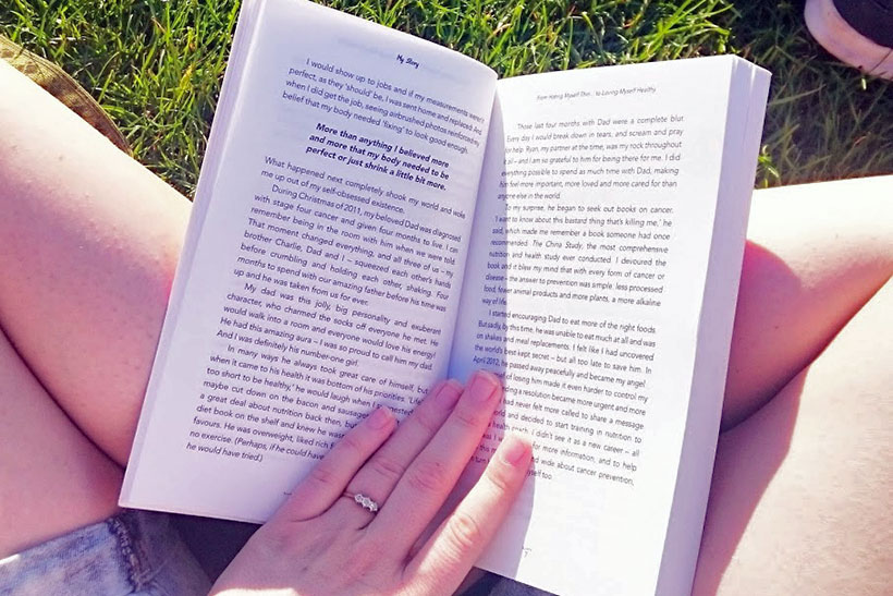 brie-anne-reading-outdoors