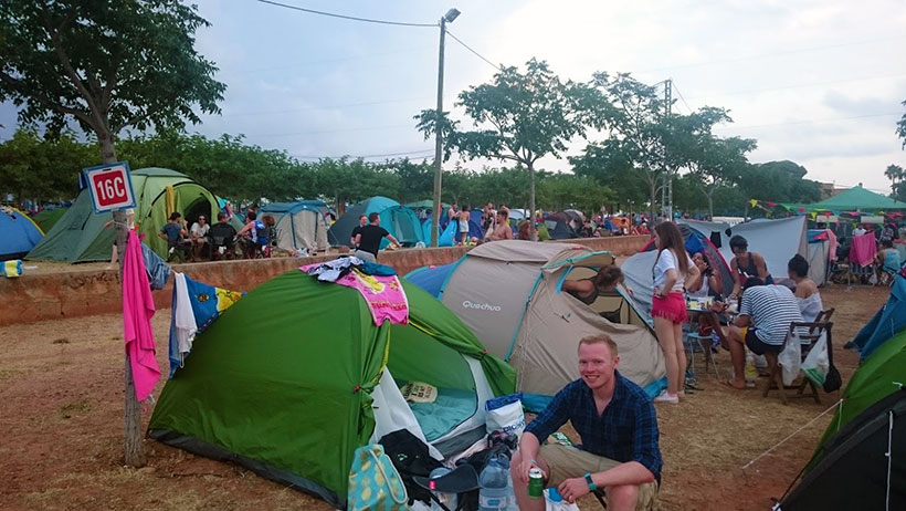 Camp-Fest-Living-Area-at-FIB-Benicassim-Festival-our-tent