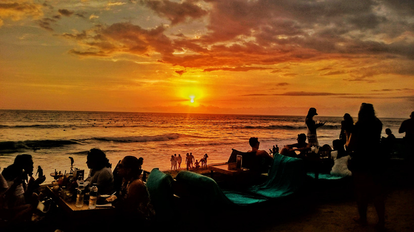 Bali Beach Sunset views