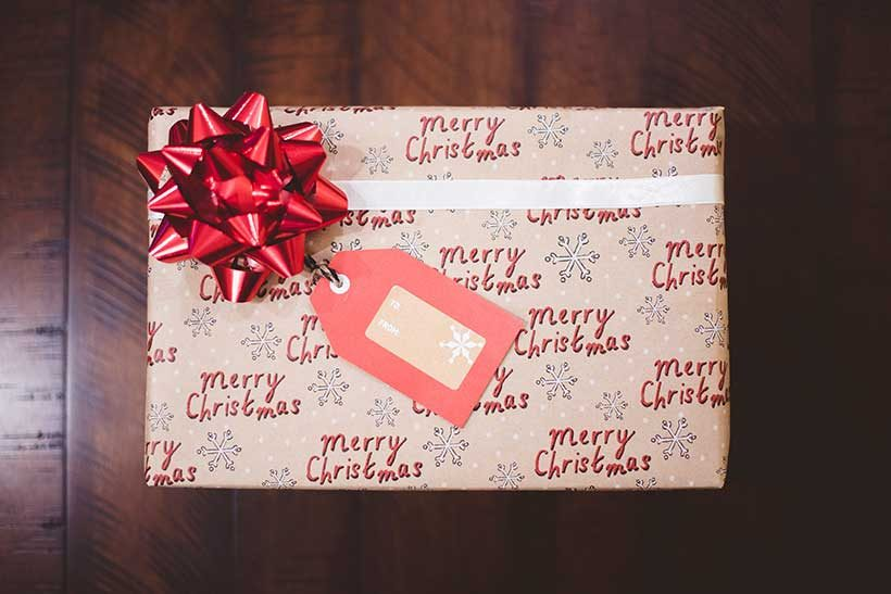 christmas-gift-in-wrapping-paper-witha--bow