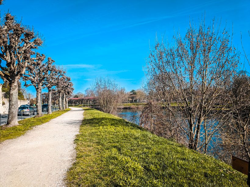 path-along-the-charente-river-bank-in-saintes-france-spring-trees-green-grass-things-to-do-in-saintes-blog-post
